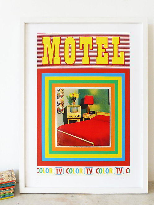 'Motel' Screen Print by Pat Edgeley