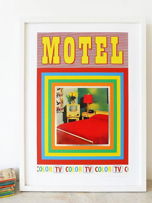 'Motel' Screen Print by Pat Edgeley