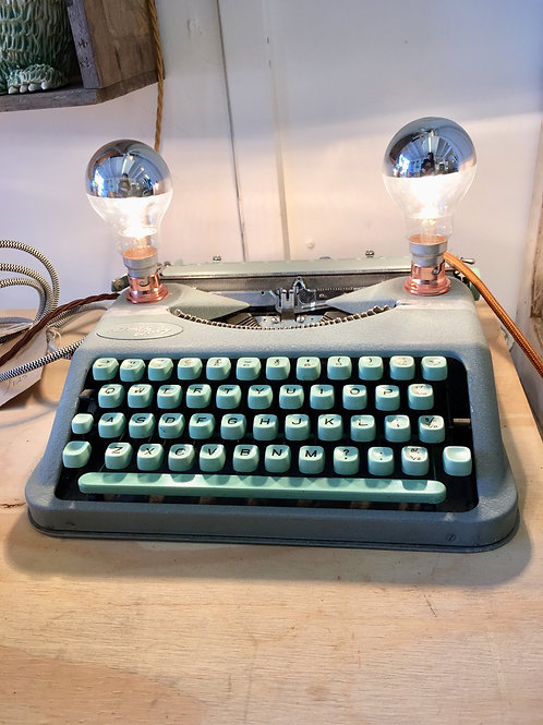 Retro Typewriter Desk Lamp by Lost & Foundry