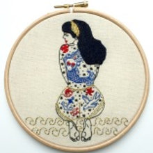 Embroidery Kit - The Summer Tattooed Lady by Vintage Mad by M