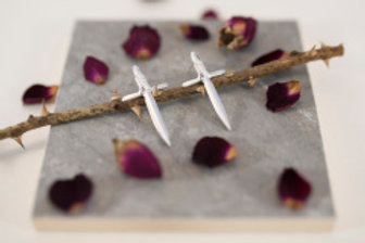 Sterling Silver Dagger Studs by Alice Ashton