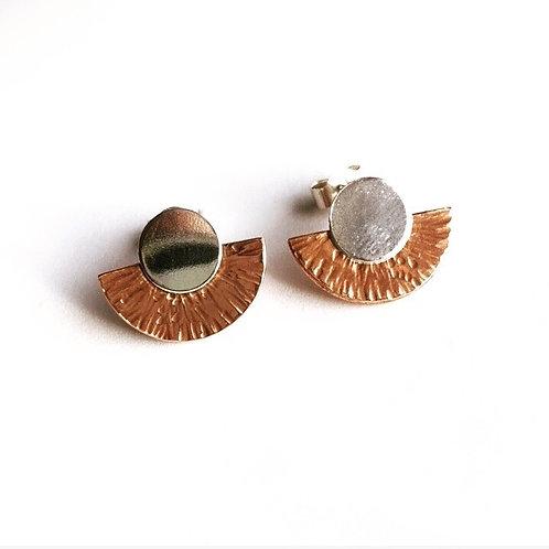 Geometric stud earrings by Lulu Mcqueen