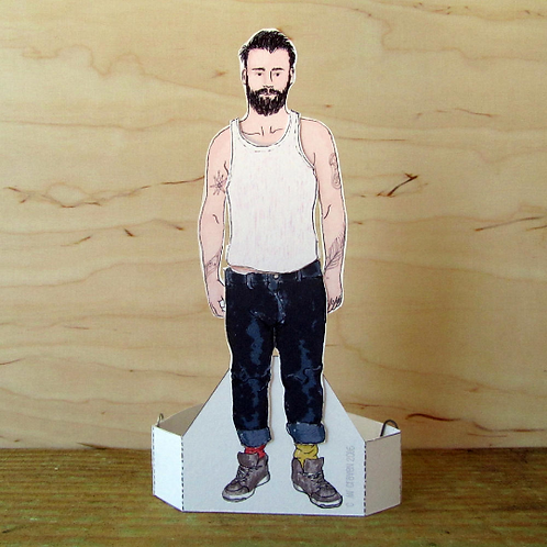 British Men – Tattoo Man Paper Doll by Mr Craven: Raconteur