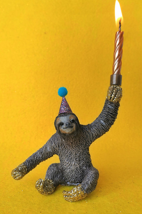 Sloth Candle Holder by Collage Queen