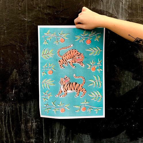 'Tigers in Orange Grove' by Anna Soba
