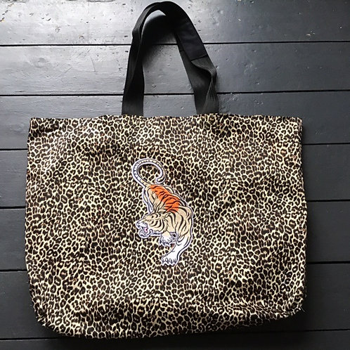 Giant Leopard Print Tote Bag by Desertland Wares