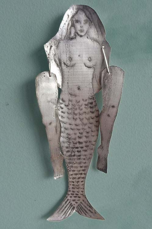 'Mermaids with Legs' Recycled Tin Talisman by Seventy Seven Seas
