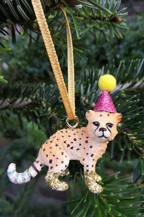 Tiger Cub Hanging Decoration by Collage Queen