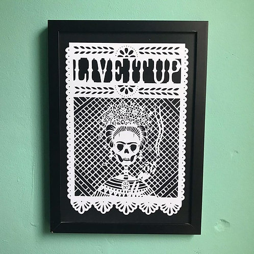 Frida Print By Porkchop Papercuts