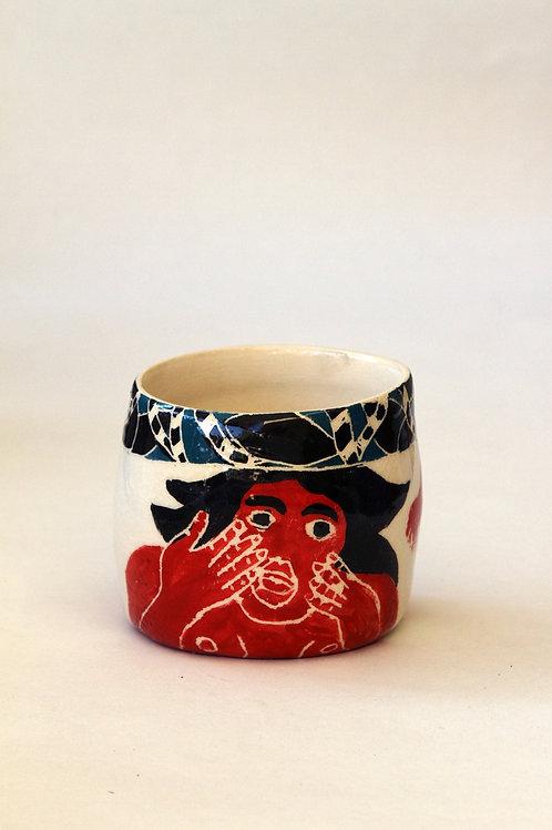 'Edouardo' Ceramic Pot by LAZARINE