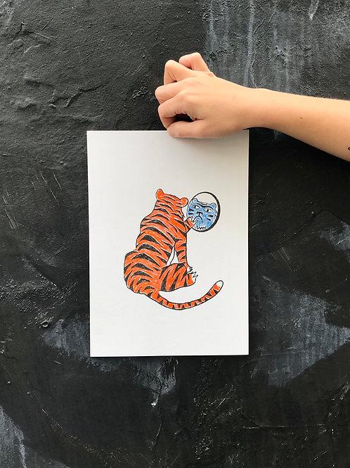 'Sad Tiger' by Anna Soba