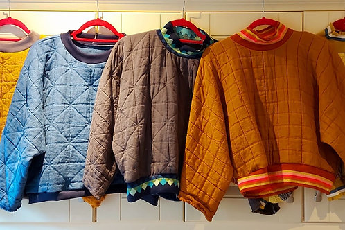 Quilted Sweatshirts by Pearl's Drapery