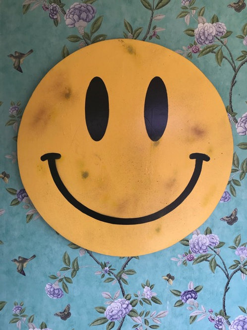 ' Smiley' Wall Plaque 12 Inch by Subvertiser