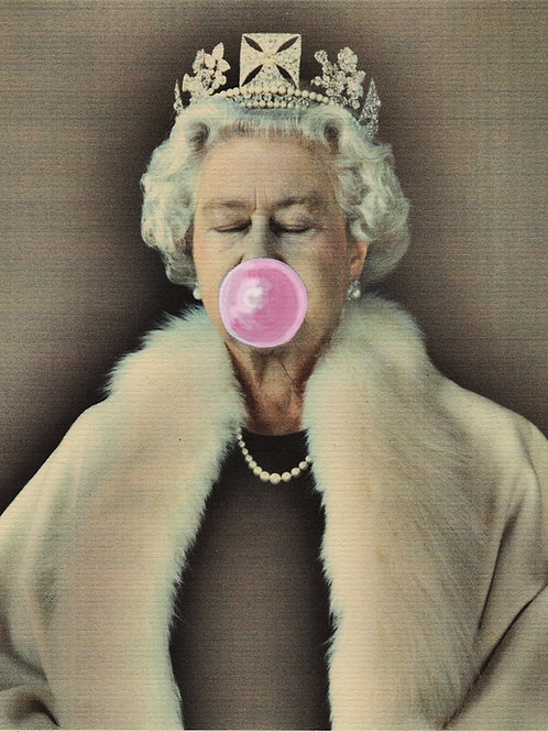 'Bubble Gum Queen' Limited Addition Giglee Print A4 by Sassy Luke