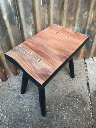 Elm and Painted Ash Stool by Hopesprings Chairs