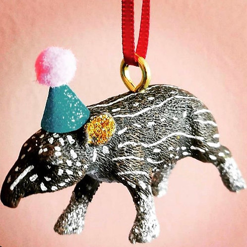 Tapir Hanging Decoration by Collage Queen
