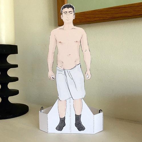 Guy Next Door – Locker room Man Paper Doll by Mr Craven: Raconteur