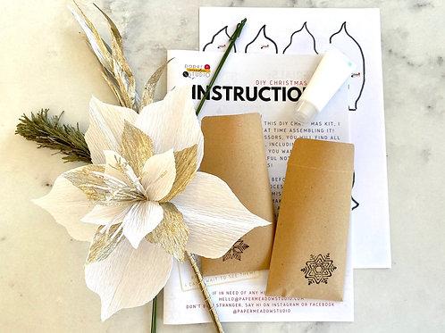 Christmas Paper Flower DIY Kit by PaperFlowerMeadow