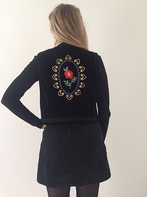 Upcycled and  Embroidered Waistcoat by Dead Lavender