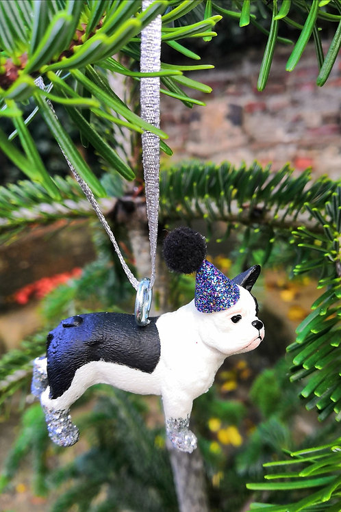 French Bulldog Hanging Decoration by Collage Queen