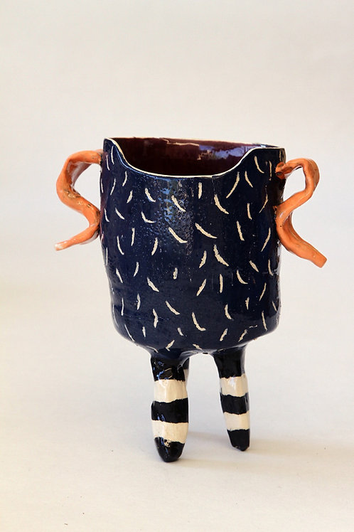 'Tong' Ceramic Pot by LAZARINE