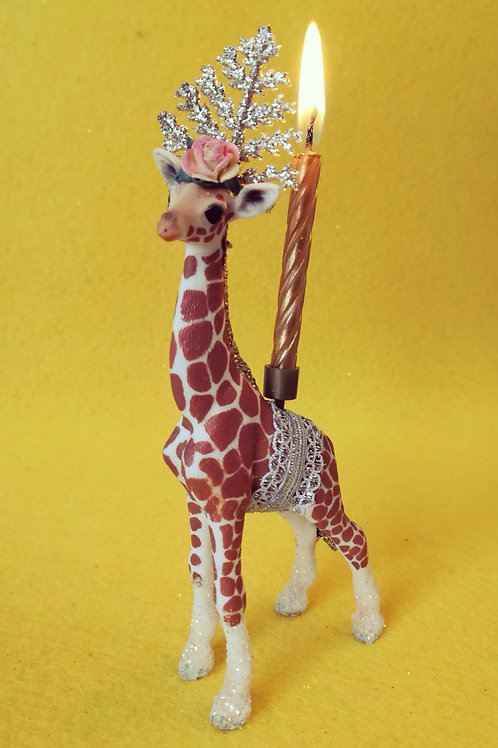 Giraffe Candle Holder by Collage Queen