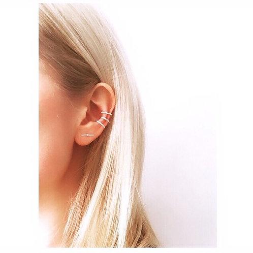Dainty Sterling Silver Ear Cuff by Lulu McQueen