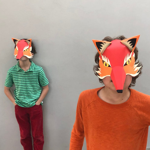 Make Your Own Fox Mask by Making Faces