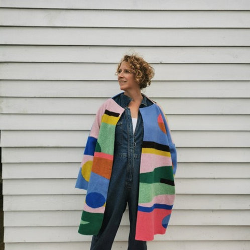 'Anouk' Abstract Coatagon by Ompompom