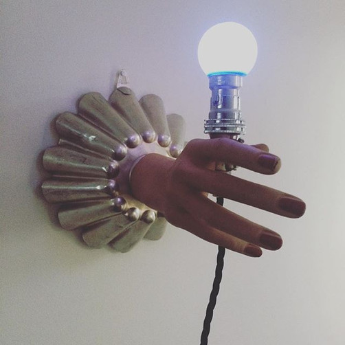 It's ready!! #hands #assemblage #loveit.