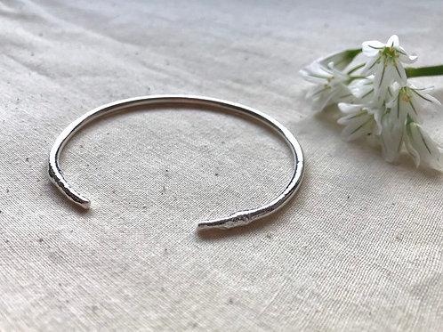 Molten Silver Cuff Bracelet by Hummingbird Hawkmoth