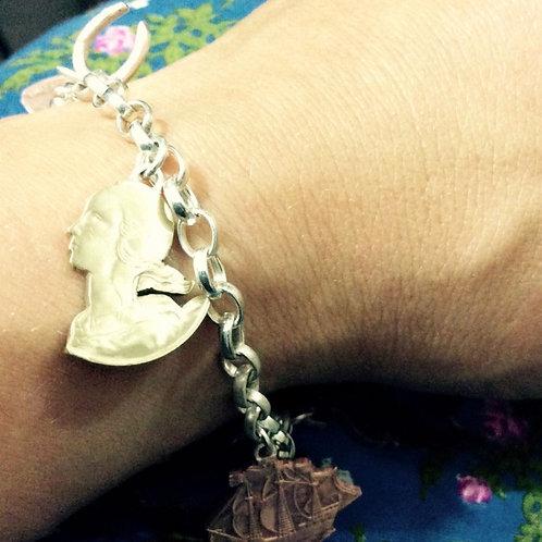 Mixed Coin Bracelet by Rachel Eardley