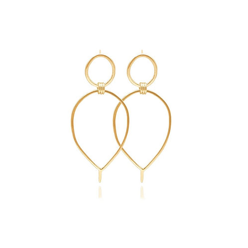 Lunaria Earrings in Silver or Gold by MayaH Jewellery