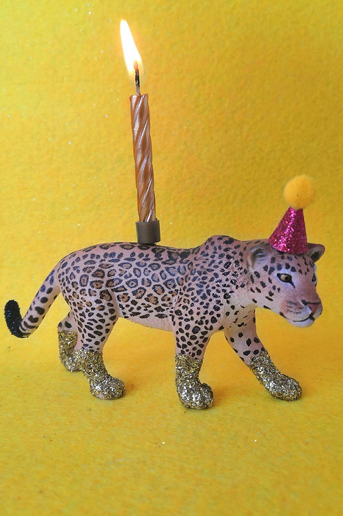 Jaguar Candle Holder by Collage Queen