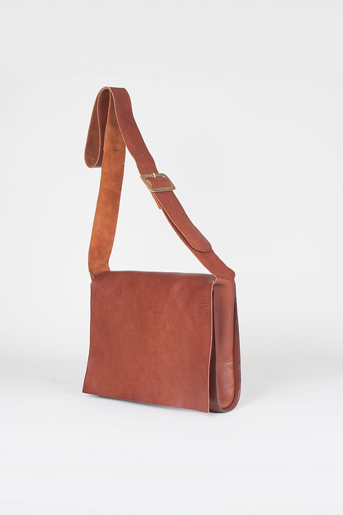 Medium Tan Messenger Bag by Wolfram Lohr