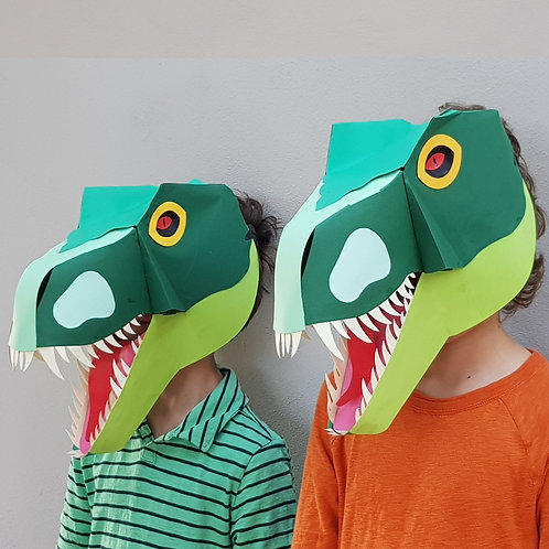 Make Your Own T-Rex Mask by Making Faces