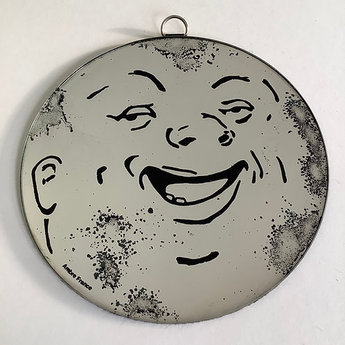'Crater Face Moon' Mirror by Kill Medusa Mirrors