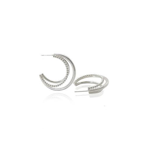 Silver Triple Hoops by MayaH Jewellery