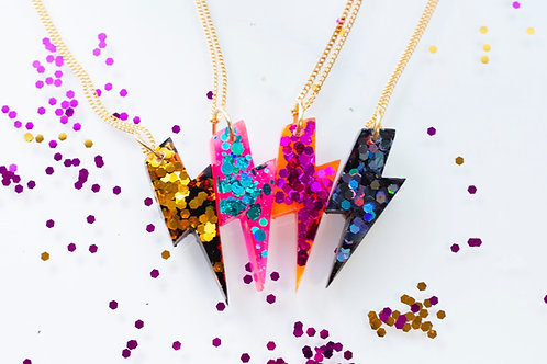 Dazzler Thunderbolt Necklace by Gem Lettuce