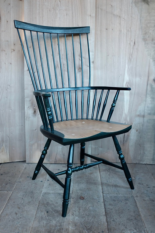 American Windsor Armchair in Elm by Hopesprings Chairs