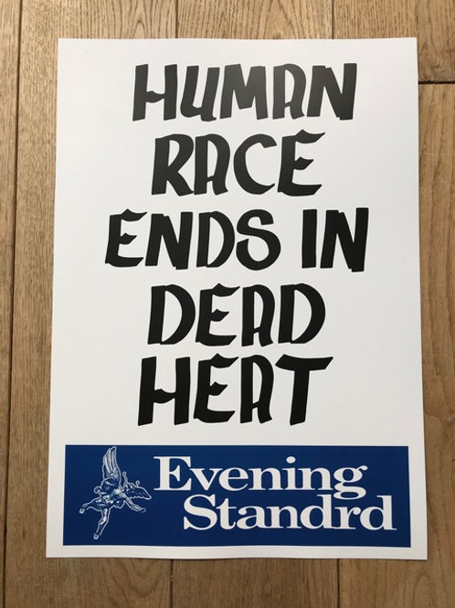 'Human Race' A3 Print Edition of 100 - Framed  by Subvertiser