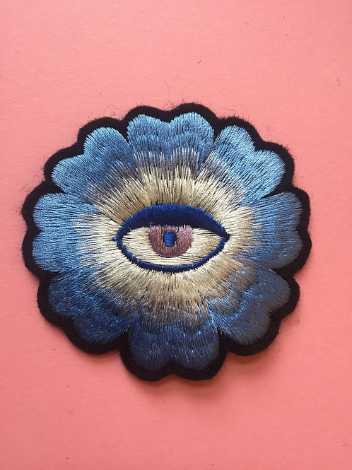 Embroidered Blue Eye Patch by Dead Lavender