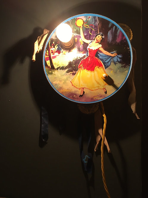 Vintage Tambourine Wall Light