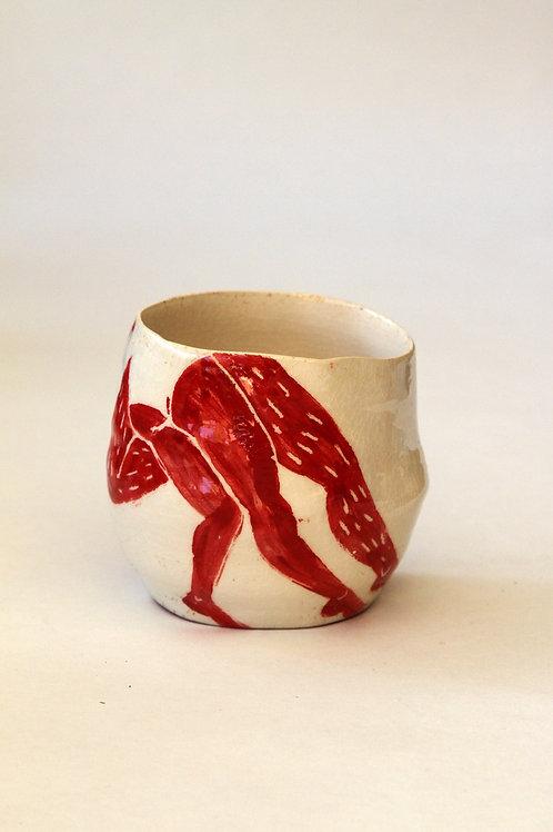 'Danseurs' Ceramic Pot by LAZARINE