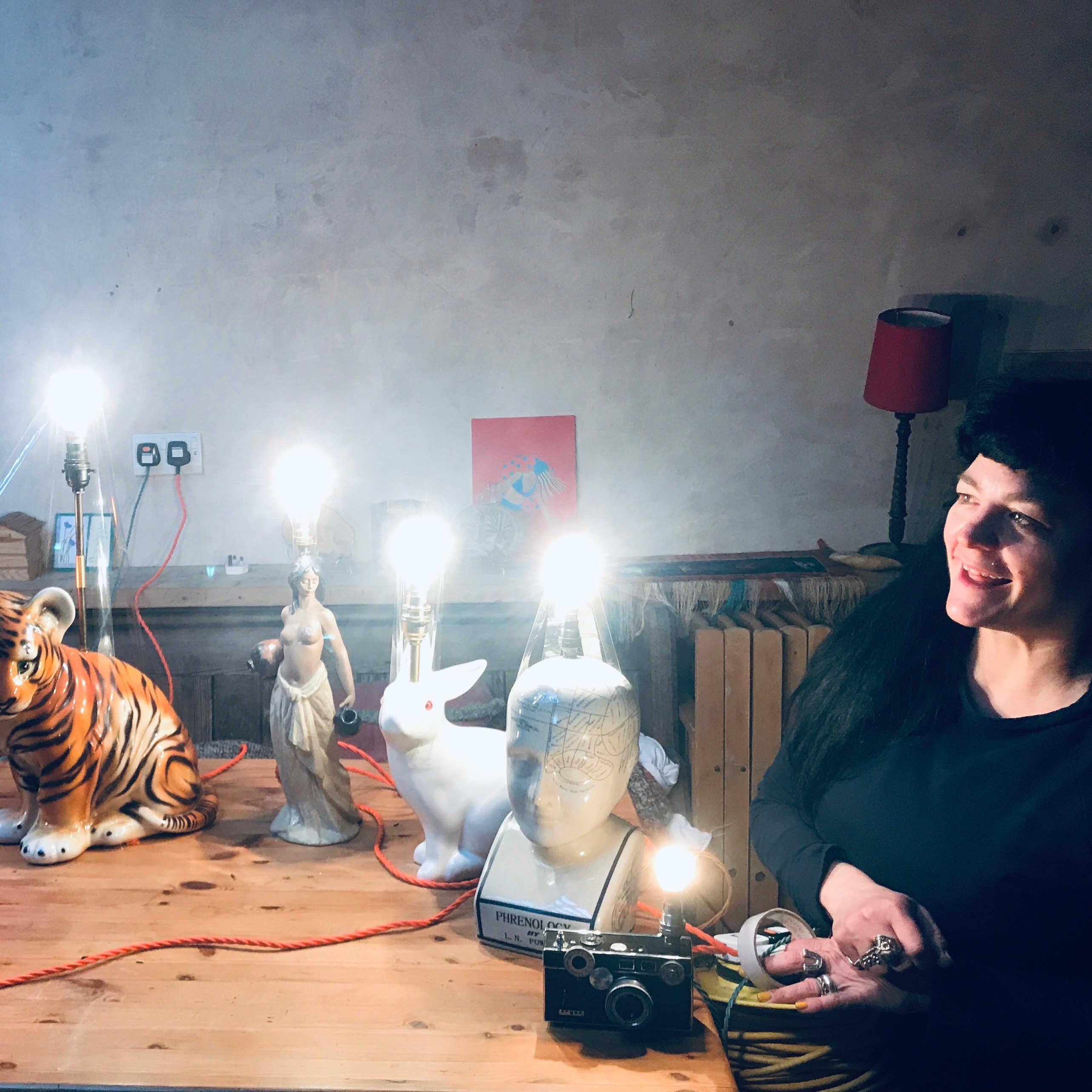 1 to 1 Lamp making workshop at home