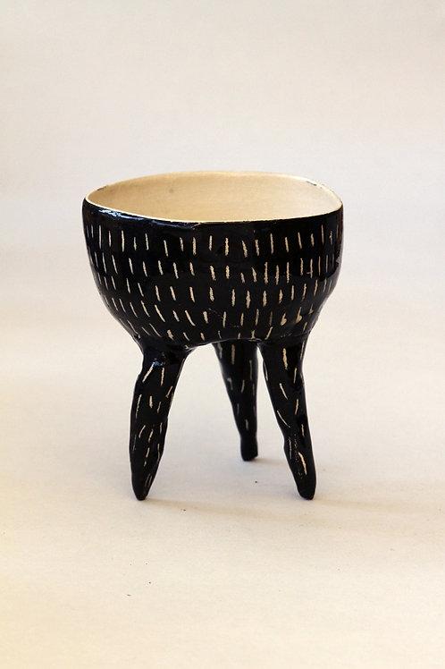 'Petit Gris' Ceramic Pot by LAZARINE