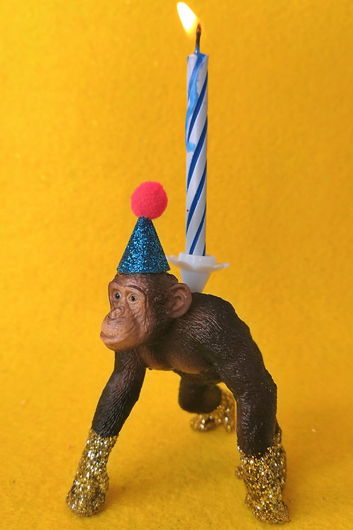 Chimp Candle Holder by Collage Queen