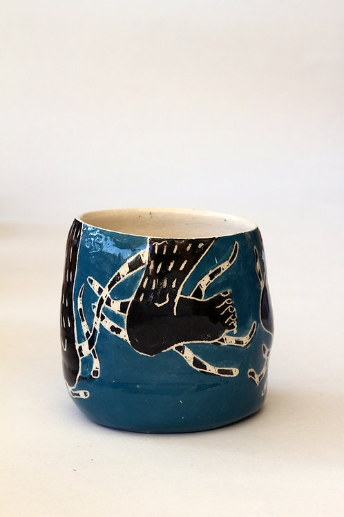 'Pied Bleu' Ceramic Pot by LAZARINE