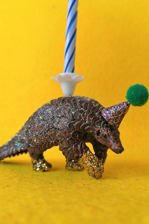 Pangolin Candle Holder by Collage Queen