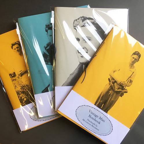 Vintage Man Handmade Notebook by Mr Craven: Raconteur